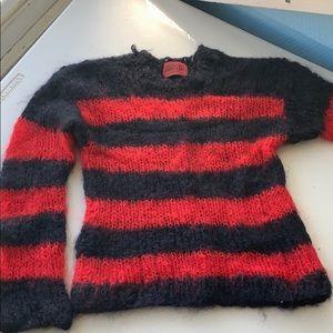 Sweaters - Fluffy stripe sweater
